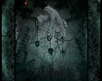 THE WITCHES FOOT Digital Art Print