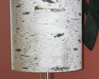 Birch lampshade, contemporary lighting, home decor, cabin living