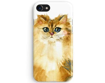 Watercolor cat - iPhone 7 case, Samsung Galaxy S7 case, iPhone 6, iPhone 7 plus, iPhone SE, iPhone 5S, 1C090A