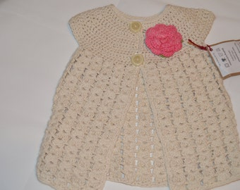2 - 3 Years Old Girls' White Cardigan