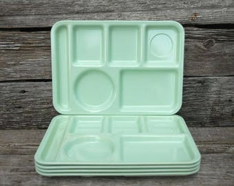 Arrowhead lunch tray, melamine tray, mint green, Ever Ware