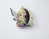 Fairy Needleminder / Fairy in a Teacup Needleminder