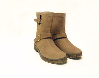 Leather boots, Beige color,Bike boots suede boots, Womans boots, Gift for her,Casual boots, Trendy boots,Shoes,