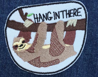 Motivational Sloth IronOn Patch