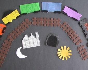 Felt Board Set/ Felt Train Set / Felt Board Story / Preschool / Teacher gift / Felt toy
