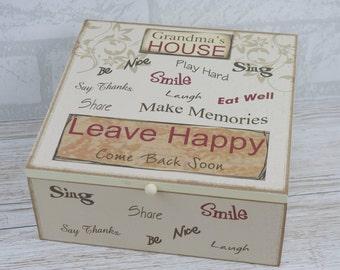 Memory Box Memories Grandmas House Leave Happy Grandchildren Keepsake Box SG1811 W18