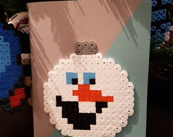 Book NoteBook Olaf Hama bead snow Queen