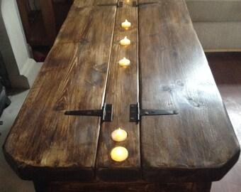 Midi Morbihan coffee table with storage and 7 tea-lights