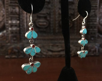Sterling Silver with semi precious stone earrings..