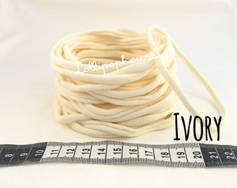 10 x Ivory Wholesale Nylon Headbands | Elastic Baby Headbands soft Stretchy | 65 cents each for 100 | OTHER Colors Available | LOW SHIPPING