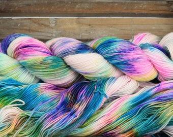 "Hand Dyed Sock Yarn - ""Colourplay 01 - Batch 2"" - Merino / Nylon - 4ply - 100g"
