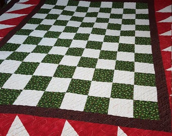 Christmas Checkerboard Quilt