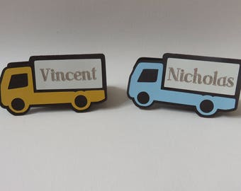 Personalized Place Cards, Birthday Place Cards, Truck Place Cards, Car Place Cards, Custom Place Cards, Boy Birthday, Boy Birthday Party