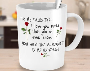 Daughter gift, father daughter gift, gift for daughter, mother daughter gift, daughter coffee mug, daughter birthday gift, father daughter