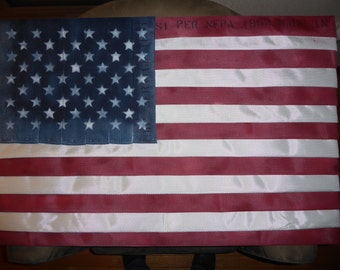 Firefighter American Flag made with Fire Hose