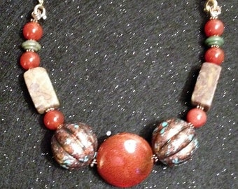 Exotic Rock n Bead Necklace