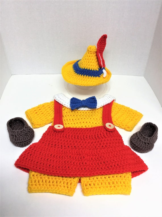 pinocchio hat template - crochet pattern pinocchio girl costume diaper set pattern