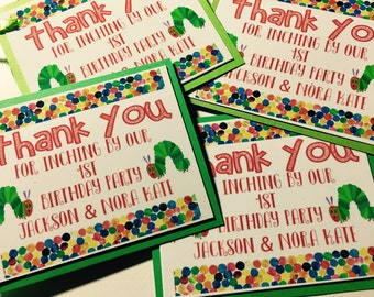 Personalized Caterpillar Birthday Thank You Tags