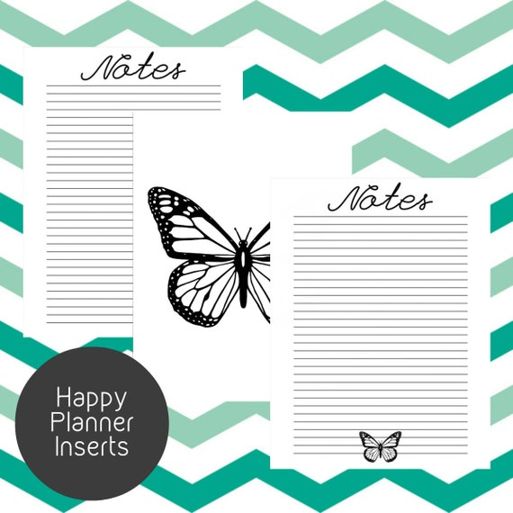 Obsessed image within happy planner printable inserts