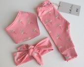 Girls Glitter Flamingo Leggings Baby Girl Baby Leggings Childrens Leggings Babyshower Gift Christmas Gift