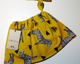 Aztec Zebra Skirt, Baby girl skirt, girls skirt, Birthday outfit, baby shower gift