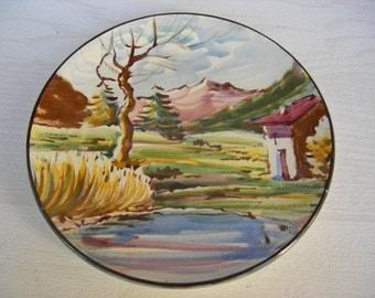 Vintage Catalan decorative plate