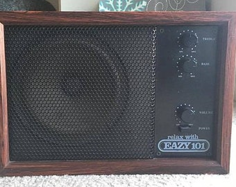 WORKING TESTED CLEANED Vintage Eazy 101.1 F.M. Promotional Rare Radio Music Gift