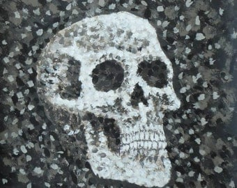 skull - pointalism