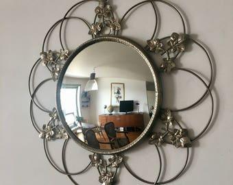 Sun witch 54cm 1960 vintage eye mirror