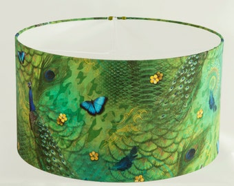 lamp shade green with Peacock