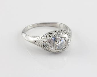 Vintage Edwardian Diamond Engagement Ring, 0.30 ct