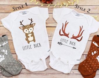 Little Buck Shirt, Baby Boy Clothes, Baby Shower Gift