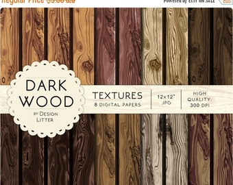 80% Until New Year - Wood texture digital paper texture scrapbooking: wood background brown reddish and gray, wood scrapbook paper · 12x12""