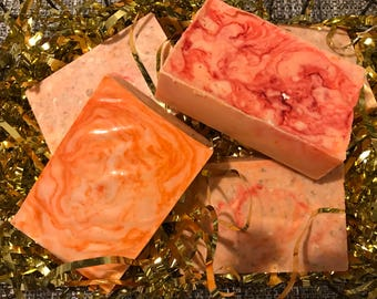 Oatmeal and citrus scented soap