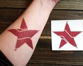 Temporary Tattoo Bucky Barnes / Winter Soldier Red Mechanized Star