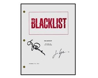 Blacklist TV Script Signed James Spader and Megan Boone