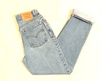 LEVIS 512 Vintage High Waist Denim Mom Jeans Slim Fit Straight Leg Size 11 JR 30X31