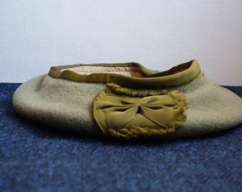 Vintage Green Scout's Bonnet, Scout Cap, Umbro