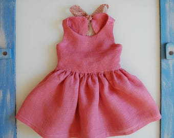 Pretty in Pink Linen Dress