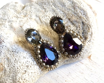 Mysterious Dangling Swarovski Crystal Earrings