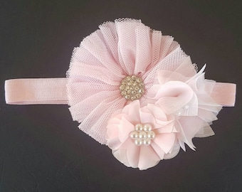 Girls flower headband | pink headband | baby headband | soft headband | Flower headband | Girls headband