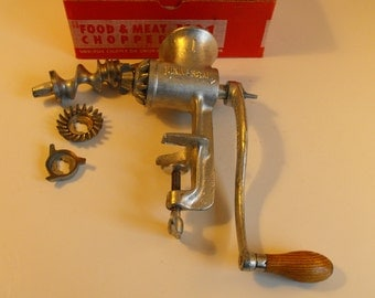 Universal Food and Meat Chopper No. 1 with Attachments Grinder   (797)