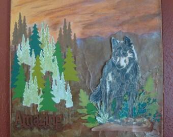 Mixed Media Canvas, Mixed Media Art, Canvas Art, Art for Him, Home Decor, Maculine Wall Art