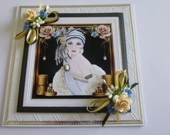 A Beautiful Art Deco Lady Card