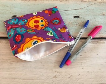 Handmade Zipper Pouch Purse Make Up Bag Cosmetics Pencil Case