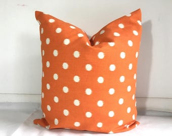 SALE  Pillow covers Cotton Pillow case Pillows Decorative  pillow Ikat orange pillow cover 18 x18, 16X16, 14x16, 14x14, 12x16, 12x12, 10x10