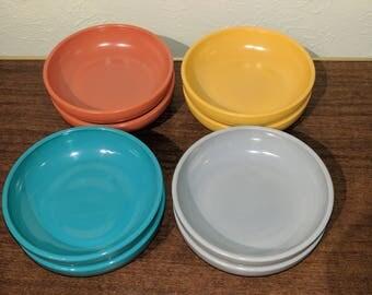 Vintage Hazel Atlas Platonite Ovide - Tempo -  Salad Bowls - Various Colors