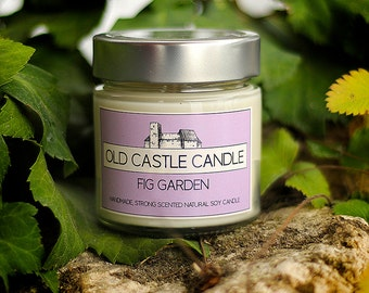 Fresh fig and casiss,sweet and tart scent,mild scented candle,fig tree,fig candle,fresh scent,Old Castle Candle 8 oz(200 g)