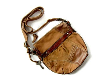Vintage Fossil Crossbody, Leather Purse, BoHo, Designer Bag, Authentic Fossil, Vintage Purse, Vintage Fashion, Classic Leather, Patchwork