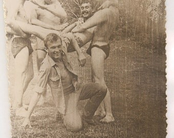 Vintage photo naked boy 70's Latvia Gay interest ART erotic